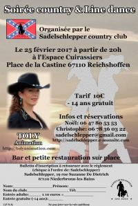Affiche soiree country 2017