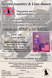 Affiche soiree country 2018